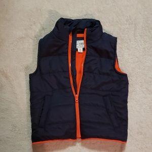 Navy and Orange Puffer Vest - 3T